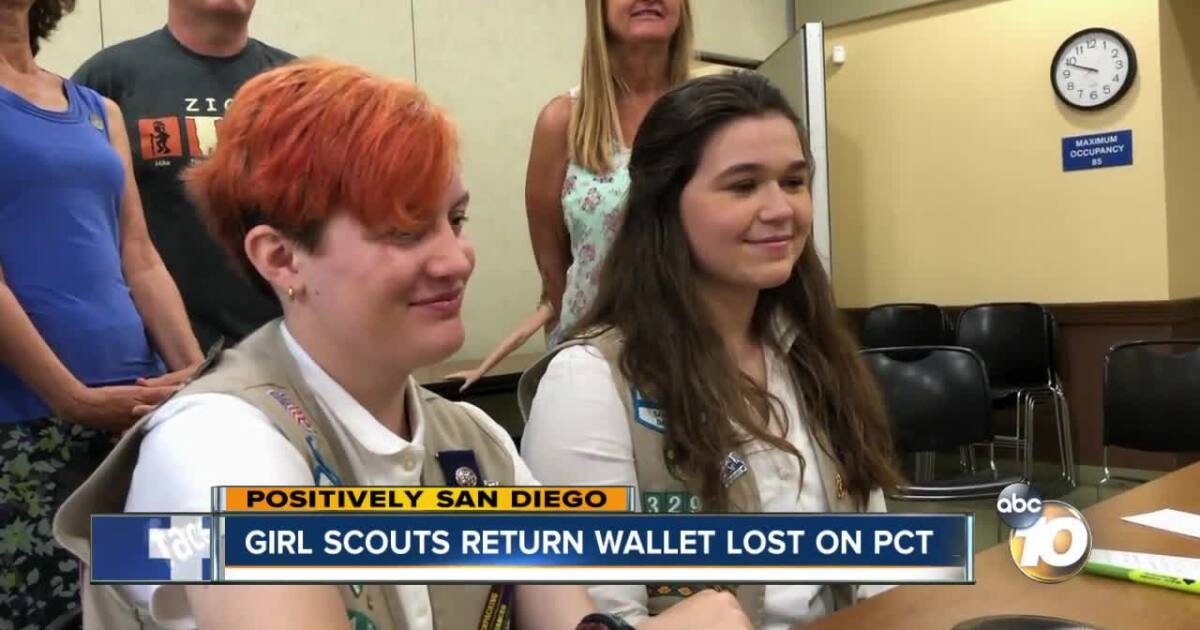 Girl Scouts find lost wallet, track down owner to return it