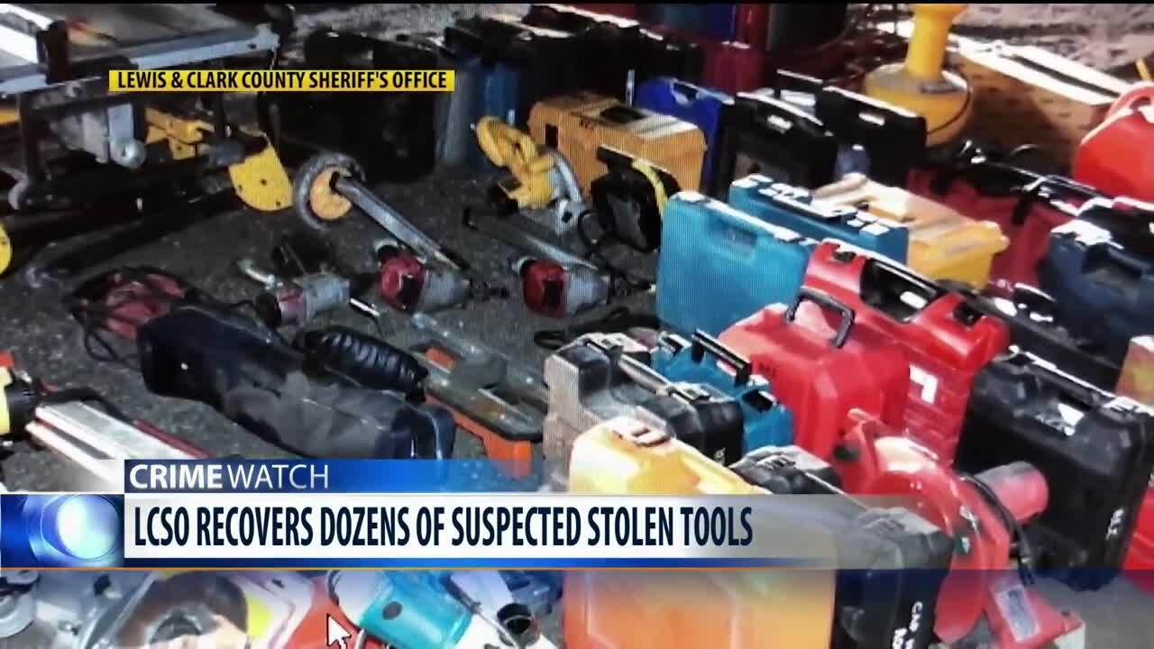 Thousands of dollars worth of stolen tools recovered in Lewis & Clark County