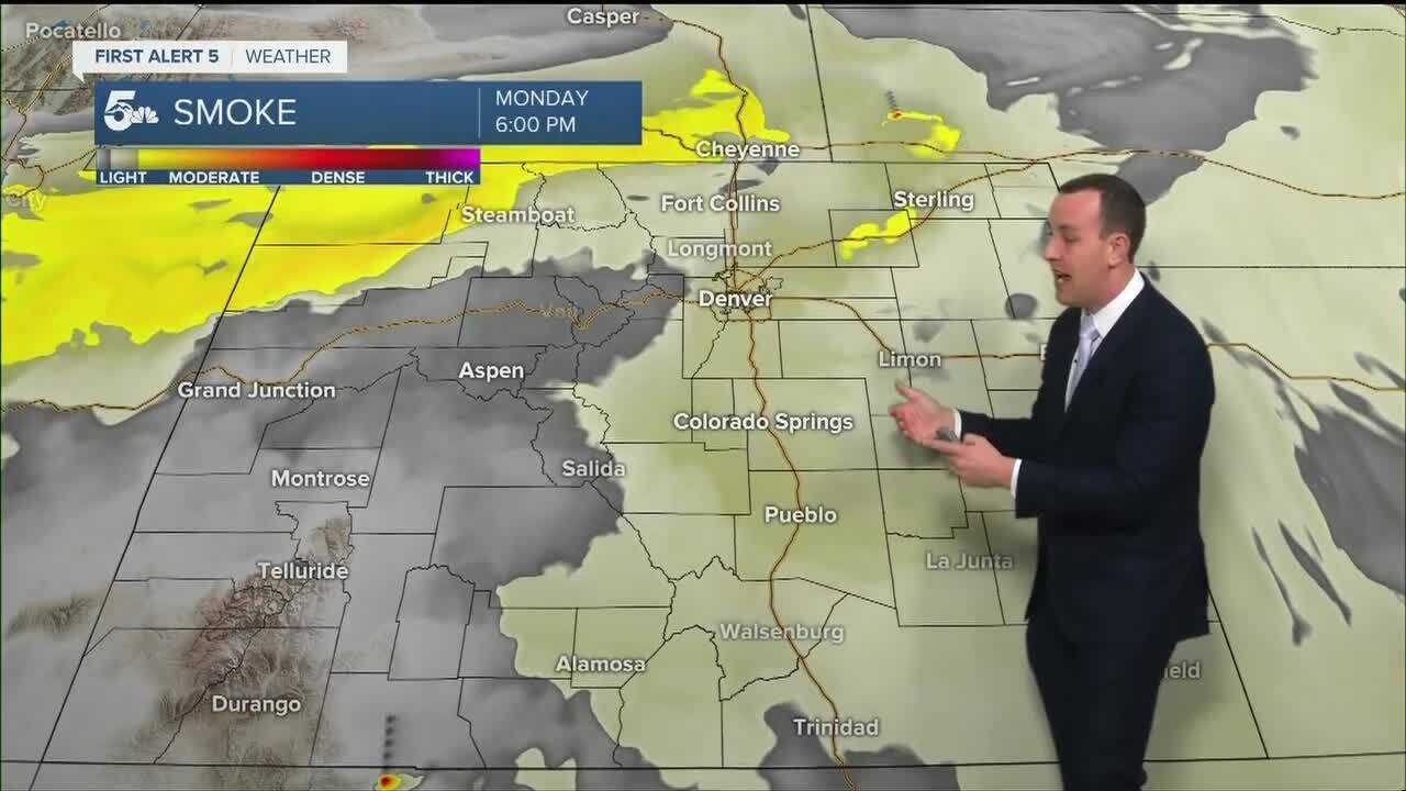 More thick wildfire smoke in Tuesday's forecast
