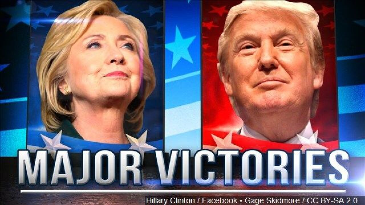 Major Wins for Clinton and Trump