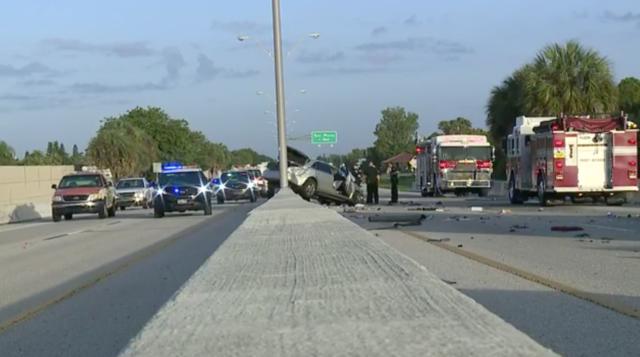 PHOTOS : Crash shut down Midpoint Bridge