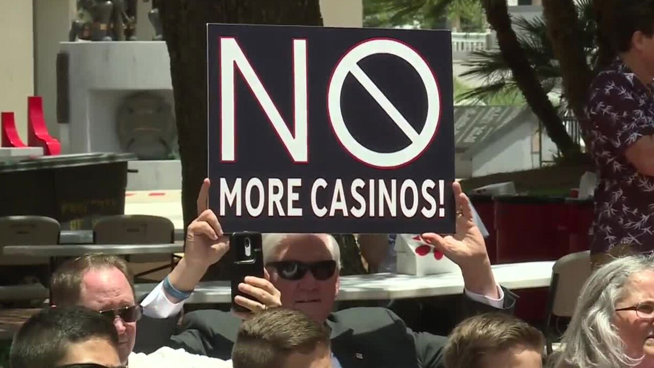 Florida casinos protest held at the Capitol on May 18, 2021