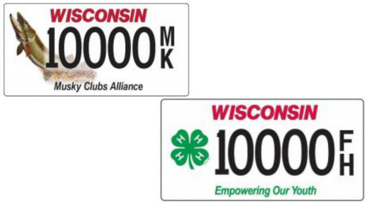 Wisconsin Department of Transportation are accepting orders for specialty license plates