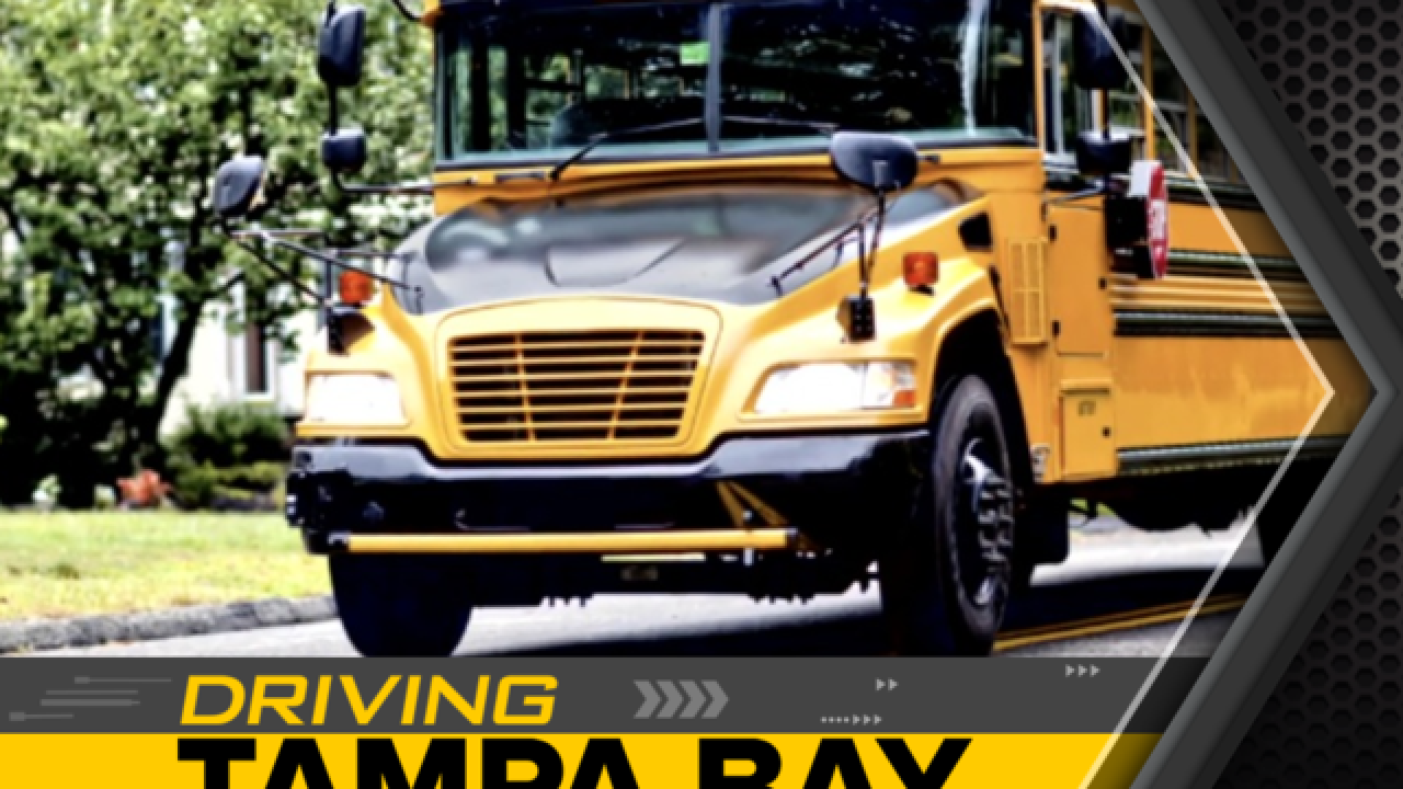 Top locations drivers pass stopped school buses