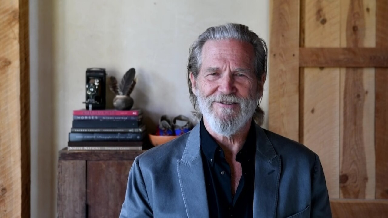 Actor Jeff Bridges reveals he's been diagnosed with lymphoma