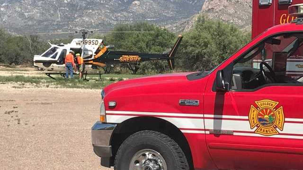 Crews rescue 18-year-old hiker