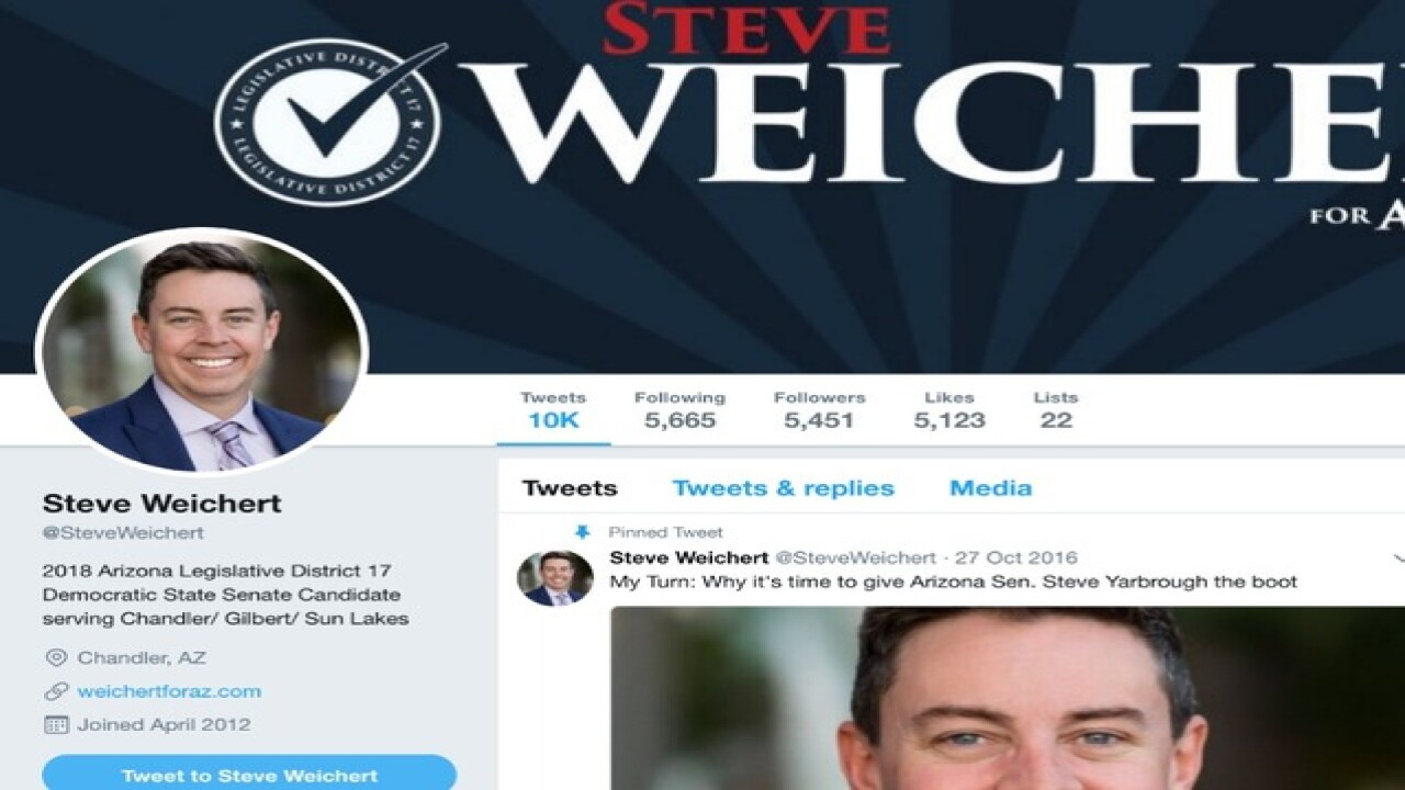 Senate candidate says his Twitter was hacked
