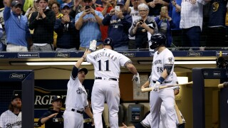 Mike Moustakas after home run