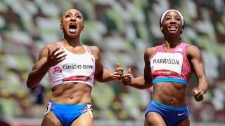 Camacho-Quinn conquers USA's Harrison for 100m hurdles gold