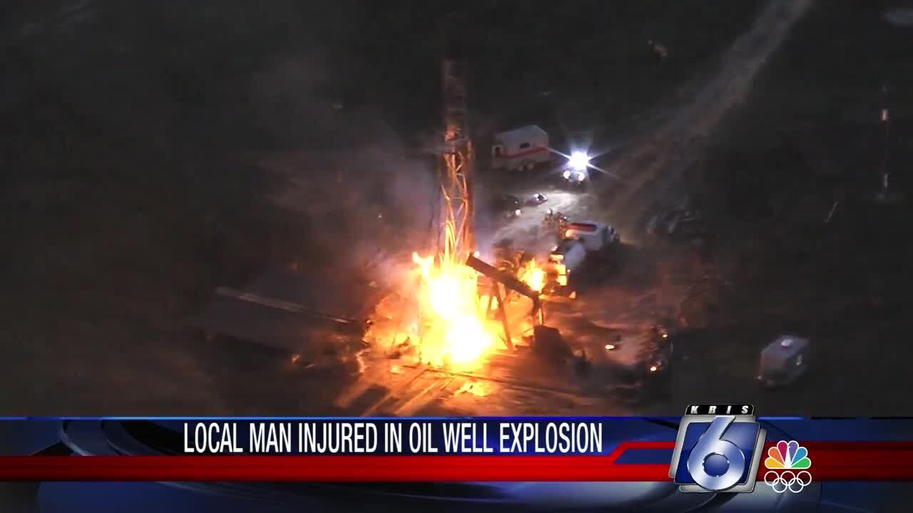 Oil field explosion near Caldwell
