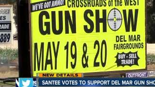Santee votes to support Del Mar gun show