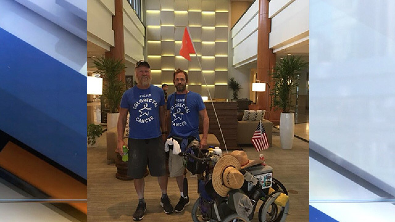 Ashland man walks across country for cancer