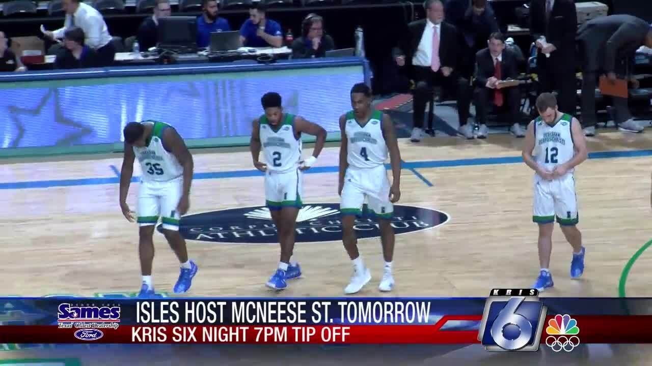 Islanders vs. McNeese State on KRIS 6 Night Wednesday at the Dugan Center