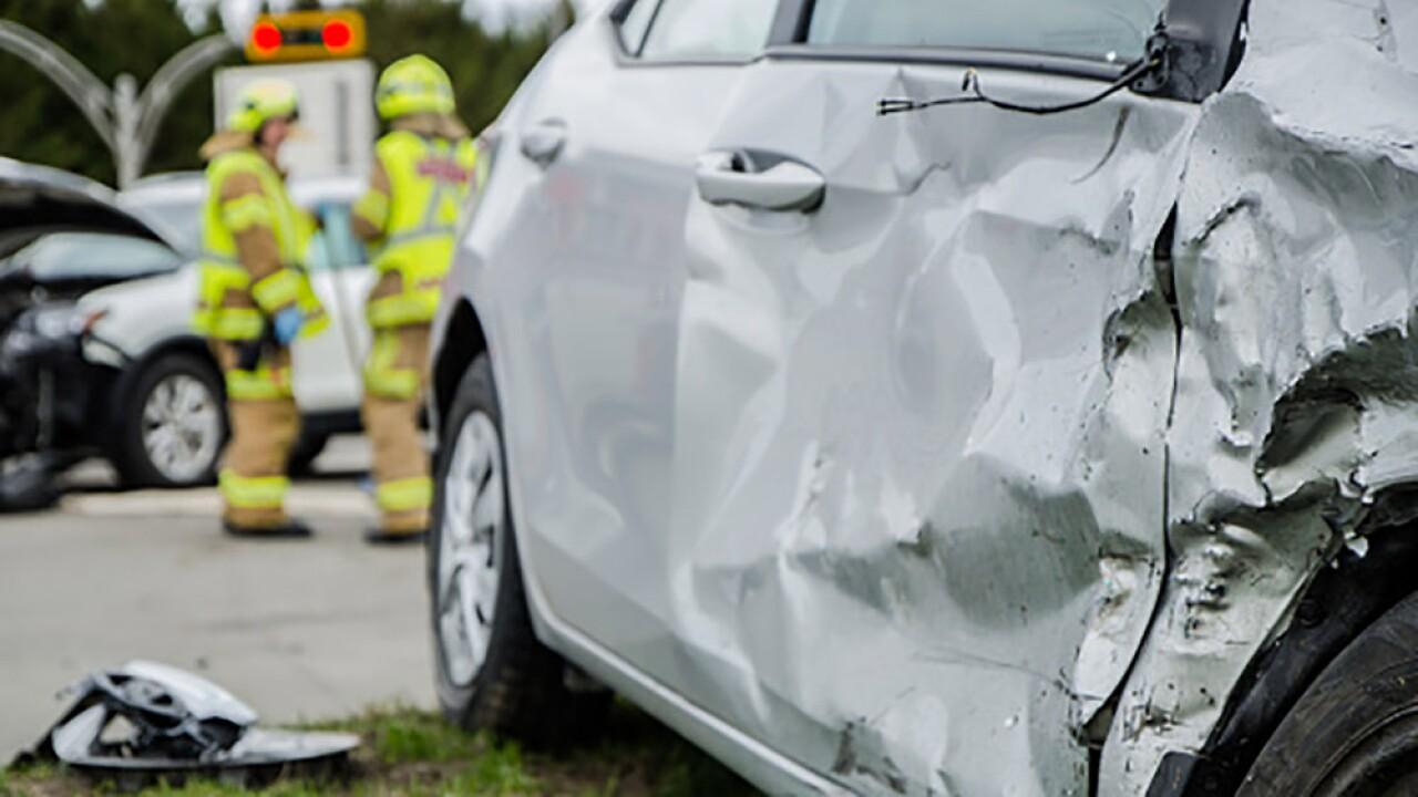 Man suffers critical injuries, two children hurt in minivan