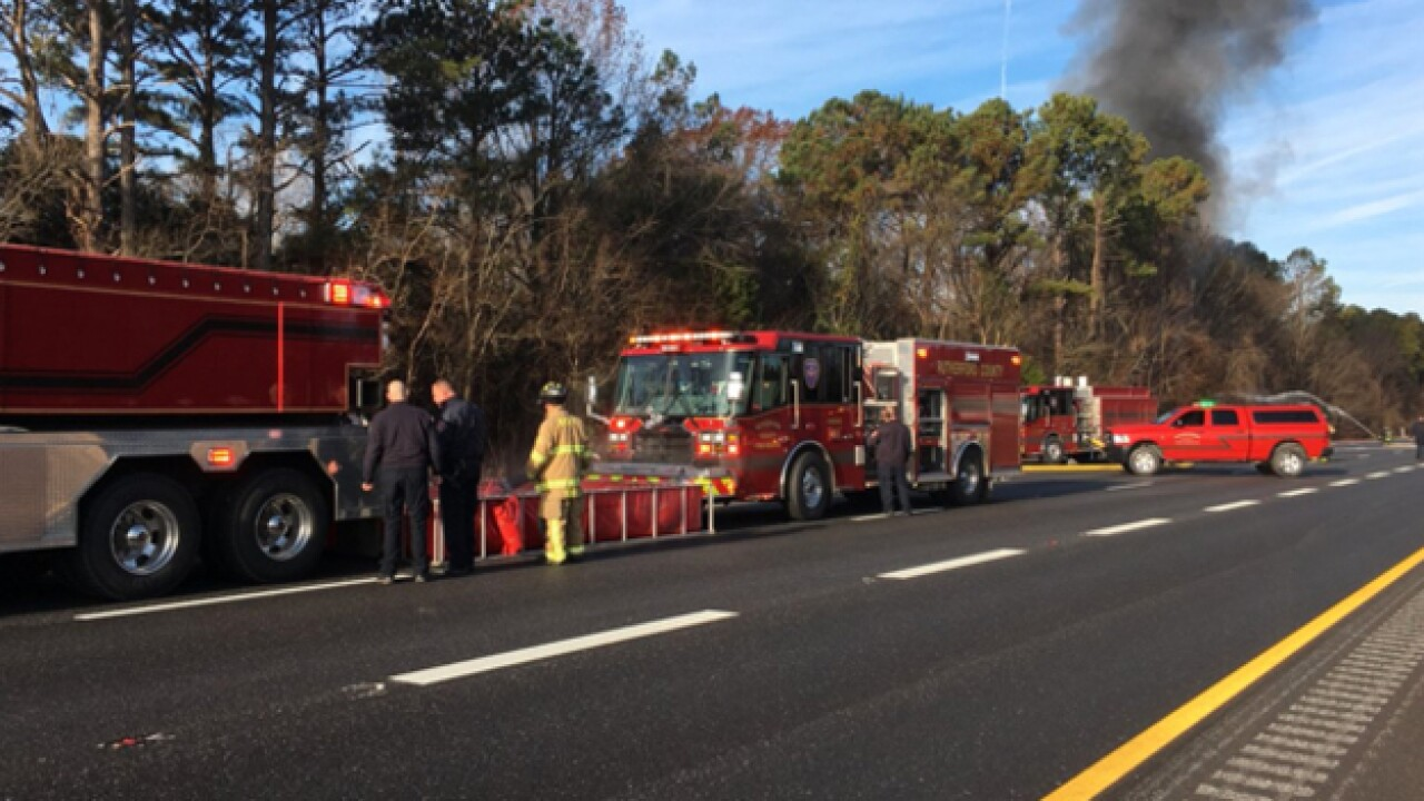 Tanker fire kills one, shuts down Interstate 24 in Rutherford Co.