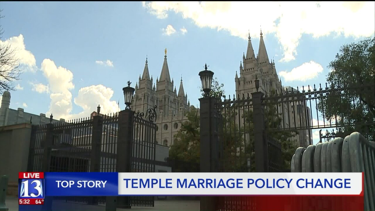 Latter-day Saints who marry civilly no longer have to wait for templeceremonies