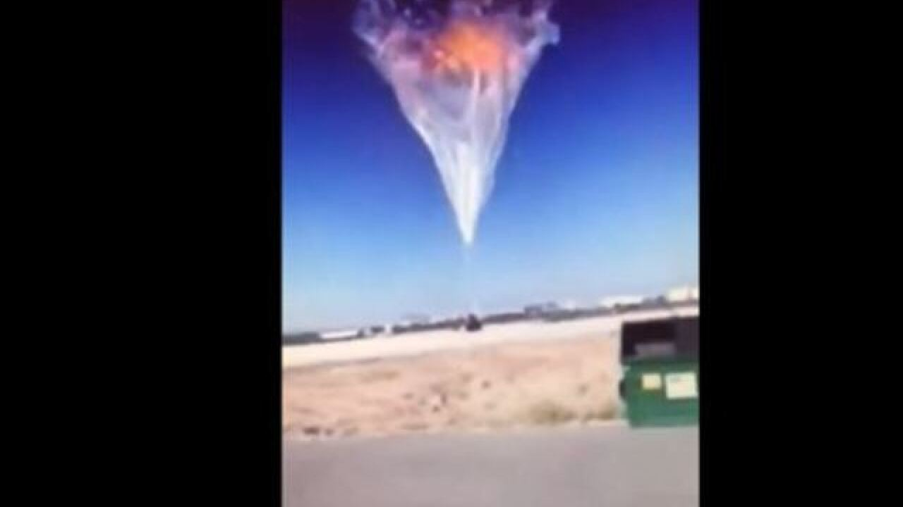 VIDEO: Watch the World View balloon explode