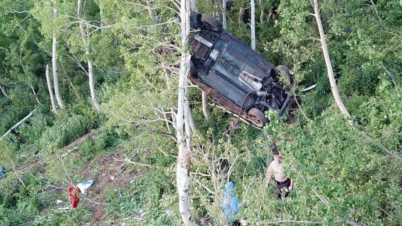 7 teens in hospital after car flies off road, lands in trees in WeberCounty