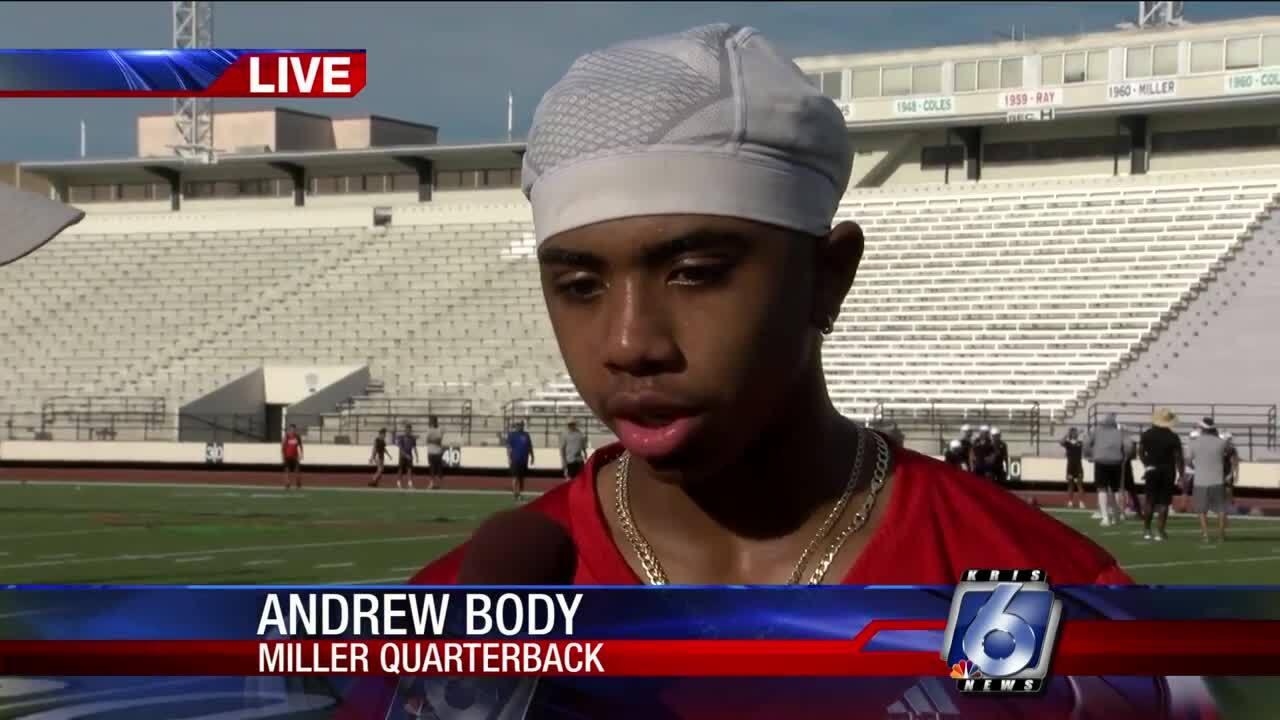 Miller quarterback Andrew Body