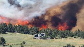Wildfire: Evacuations possible near Nederland