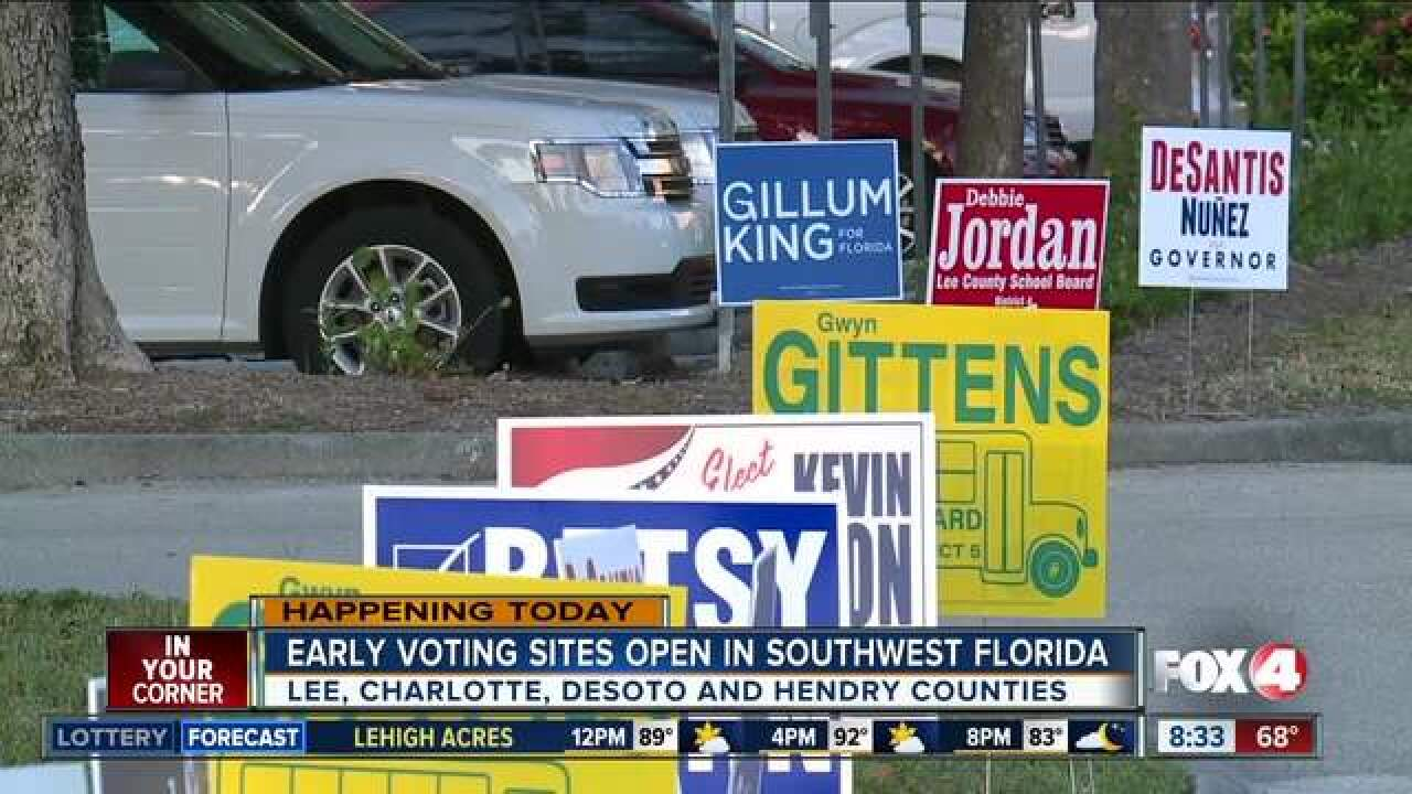 Early voting begins in Southwest Florida