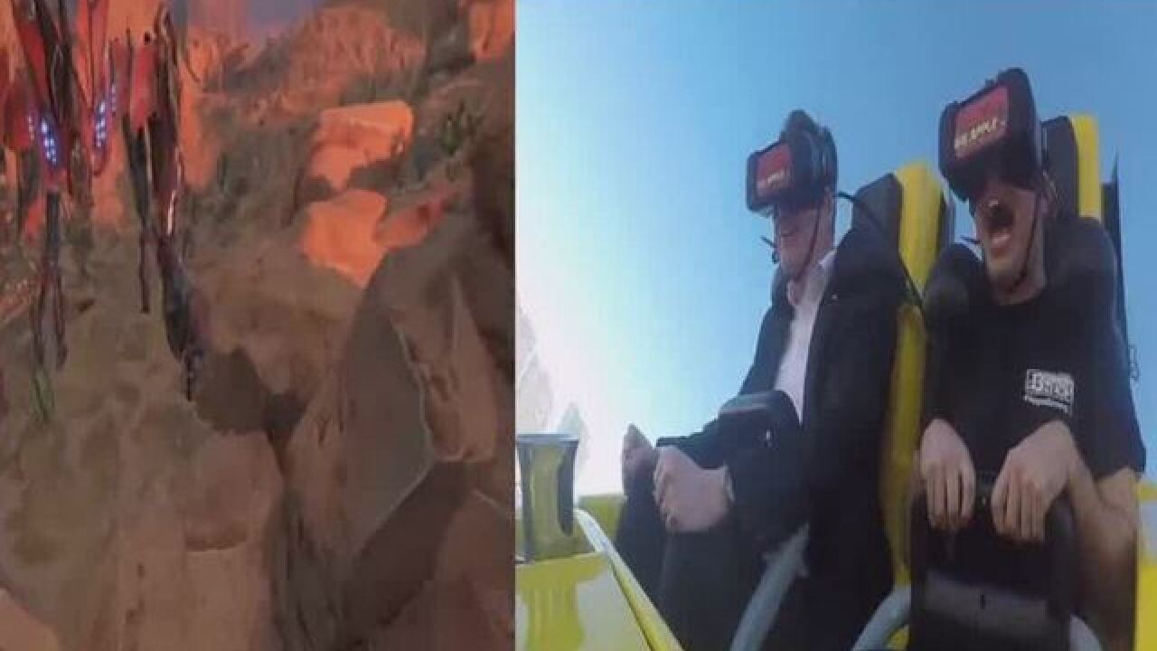 New York New York coaster adds virtual reality