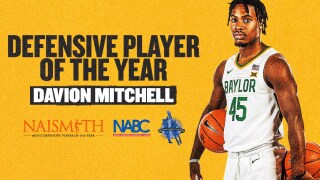 Davion Mitchell earns three National Defensive Player of the Year awards