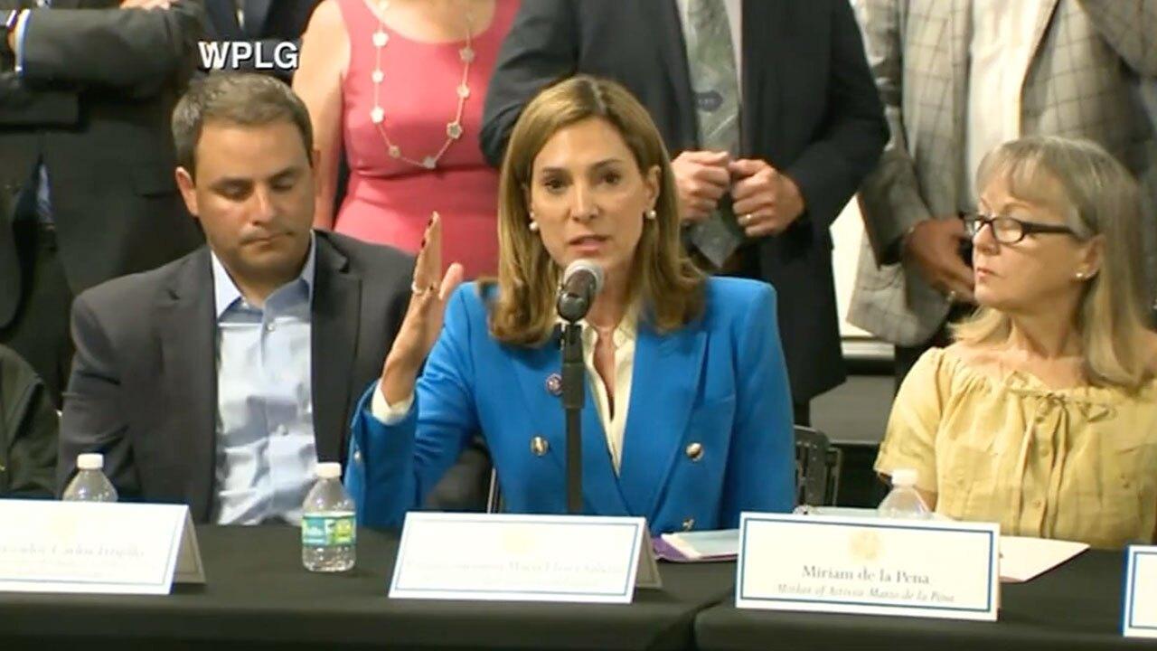U.S. Rep. Maria Elvira Salazar speaks in Miami on Cuban protest on July 13, 2021