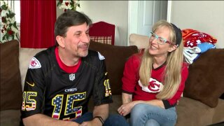 Two diehard Chiefs fans getting married on Super Bowl Sunday