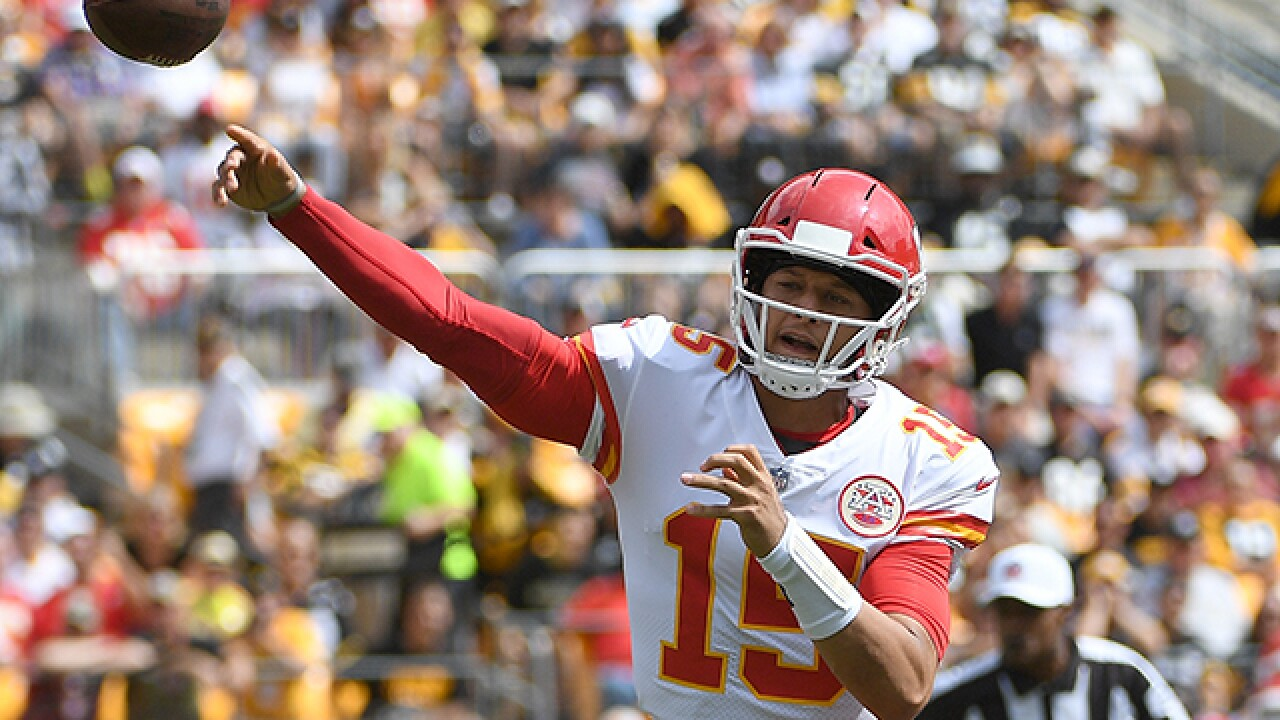 Chiefs quarterback Patrick Mahomes giddy about prospect of home game