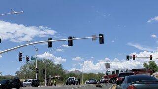 A wreck shut down La Canada and Naranja intersection Monday.