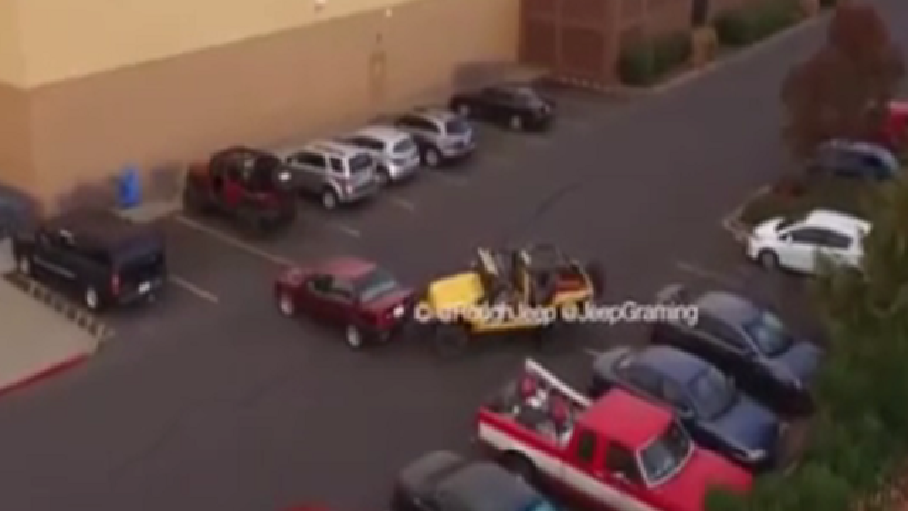WATCH: Jeep owner's clever solution to driver stealing parking spot