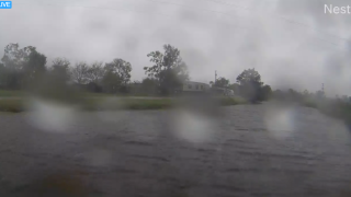 Hurricane Track Live from Esther, La.