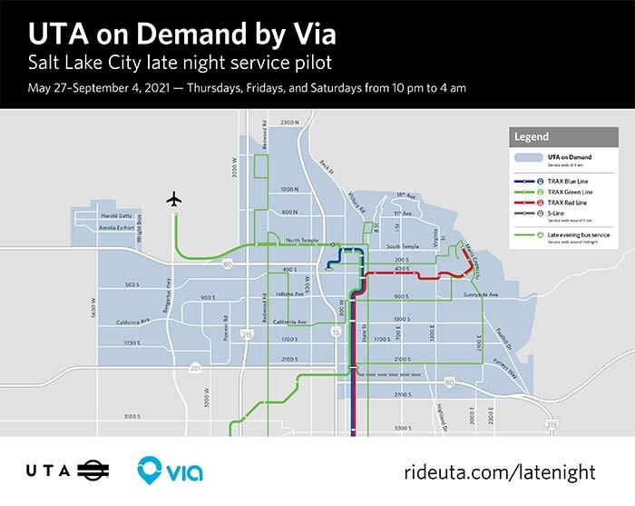 UTA on Demand by VIA Salt Lake City Service Area