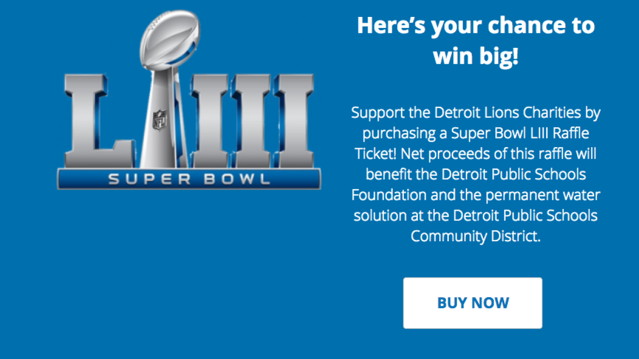 Detroit Lions holding Super Bowl ticket raffle to benefit charity 8fb695183e9