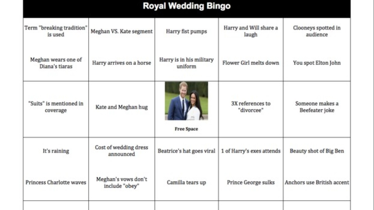 Royal Wedding 2018: Get your Bingo card for Meghan Markle & Prince Harry's wedding