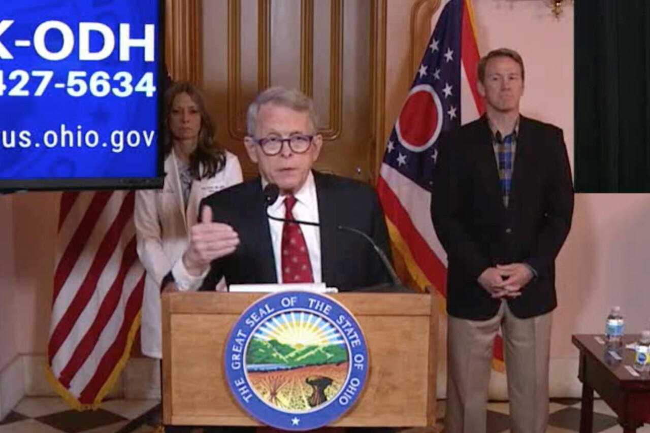Governor DeWine and Dr. Acton Saturday