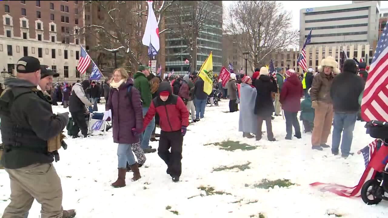 Protesters in Lansing