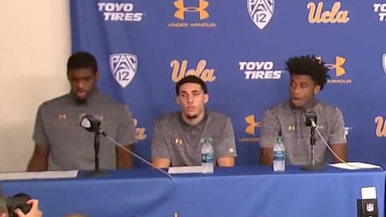 UCLA basketball players apologize for China arrest; Ball, Riley, Hill suspended indefinitely