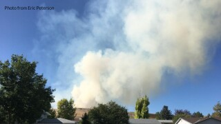 Fire near Hill 57 in Great Falls