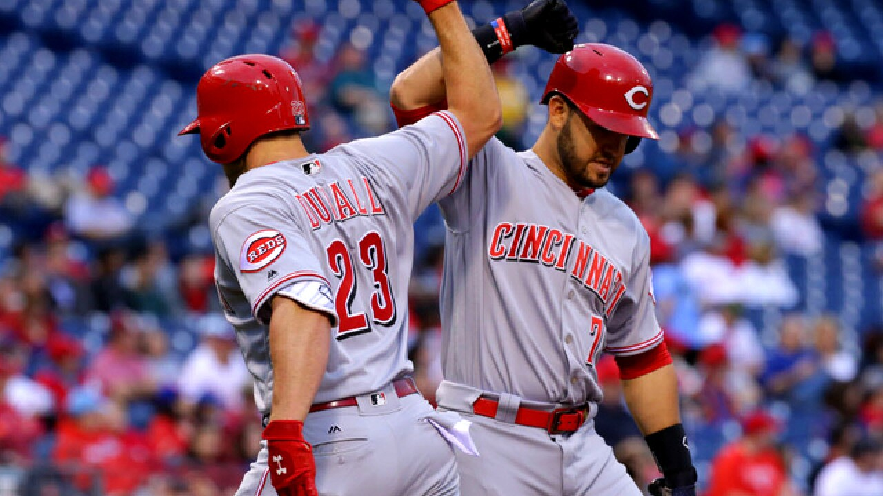 Adleman pitches 8 crisp innings as Reds beat Phillies 5-2