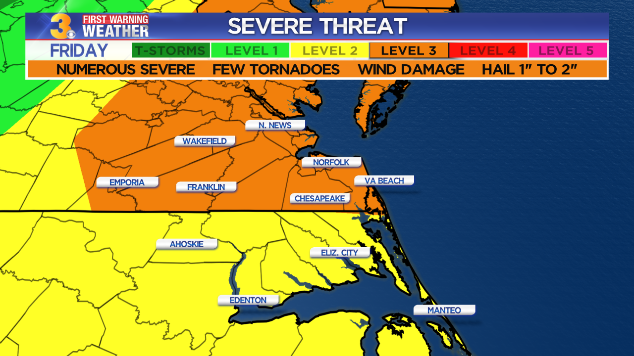 Friday's First Warning Forecast: Severe storms likely late this afternoon and evening