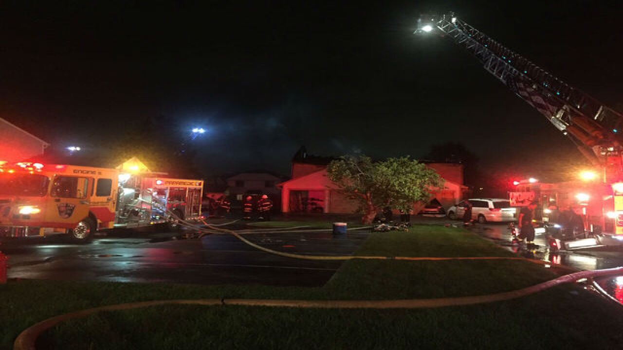 PHOTOS: No injuries in fire at condo complex