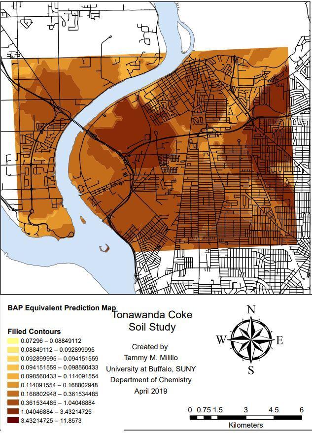 Tonawanda Coke BAP map