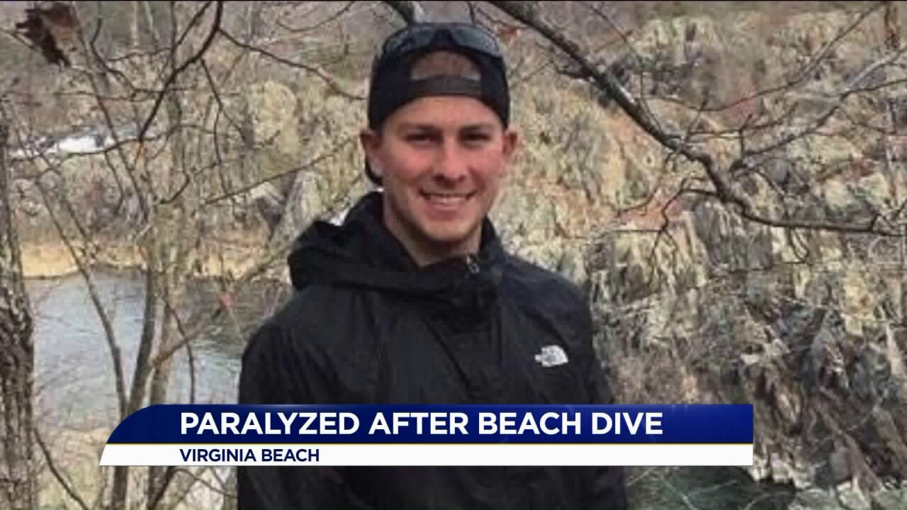 Man paralyzed from chest down after diving into sandbar at CroatanBeach