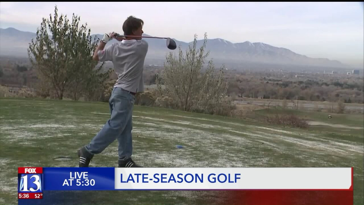 Golfers and course employees seize opportunity with warmtemperatures