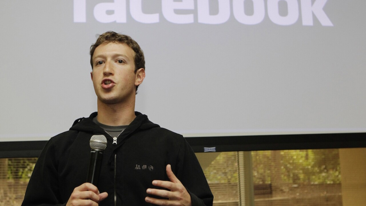 Facebook CEO Mark Zuckerberg says platform has helped register 4.4 million voters