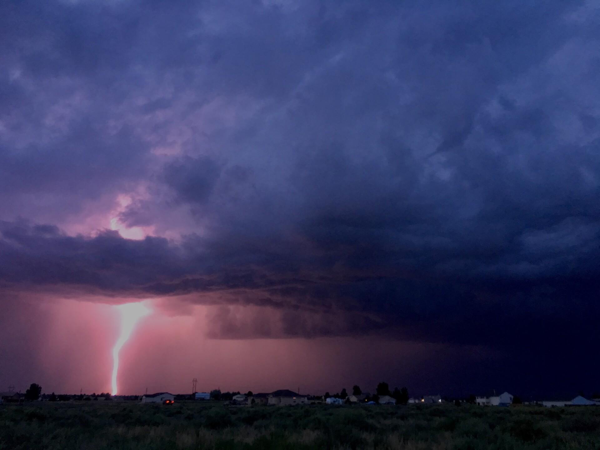 Lightning over Pueblo Reservoir
