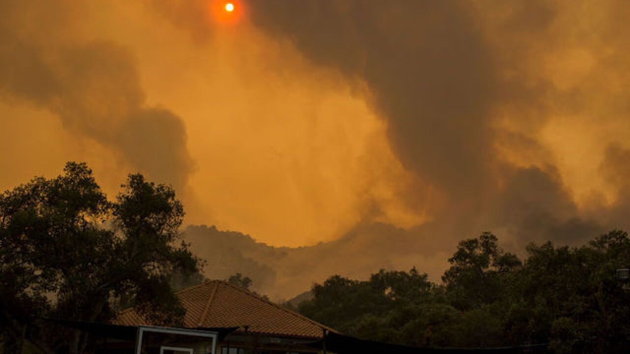 60- to 70-mph winds could fan California's Woolsey Fire today