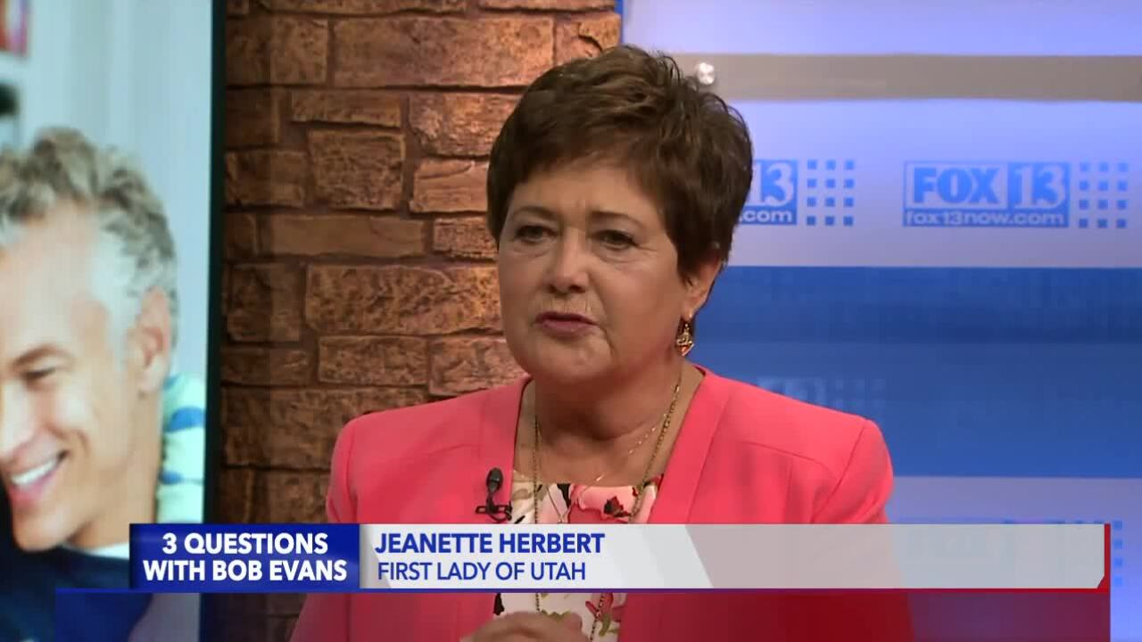 3 Questions with Bob Evans: Utah first lady Jeanette Herbert